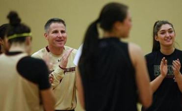 Erik Johnson is entering his first season as the women's basketball coach at BC.